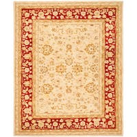 Safavieh Handmade Anatolia Oriental Ivory/ Red Hand-spun Wool Rug - 5' x 8'