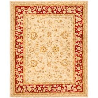 Safavieh Anatolia Handmade Ivory / Red Wool Rug (6' x 9')