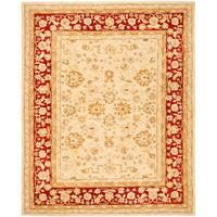 Safavieh Handmade Anatolia Oriental Ivory/ Red Hand-spun Wool Rug (6' x 9')