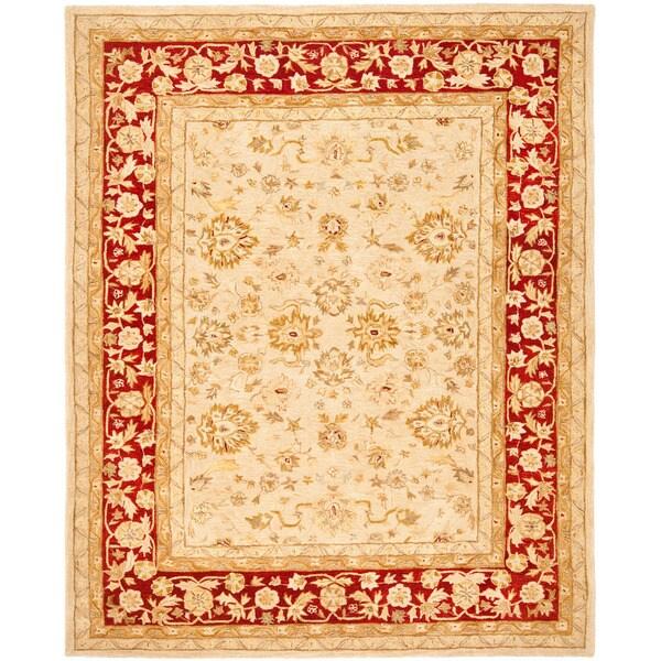 Safavieh Handmade Anatolia Oriental Ivory/ Red Hand-spun Wool Rug - 6' x 9'