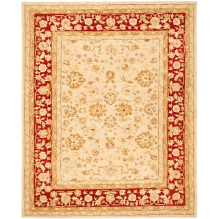 Safavieh Handmade Anatolia Oriental Ivory/ Red Hand-spun Wool Rug (8' x 10')