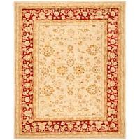 Safavieh Handmade Anatolia Oriental Ivory/ Red Hand-spun Wool Rug - 8' x 10'