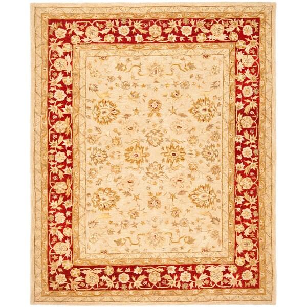 Safavieh Anatolia Handmade Ivory / Red Wool Rug (8' x 10')