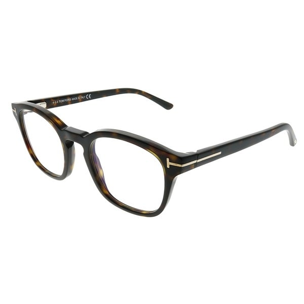 541e98c59a Tom Ford Rectangle FT 5532B V 52E Unisex Dark Havana Frame Blue Block Clear  With