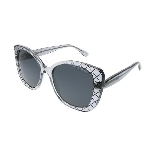 a271b5aea4 Bottega Veneta Cat-Eye BV 0198S 001 Women Grey Frame Grey Lens Sunglasses