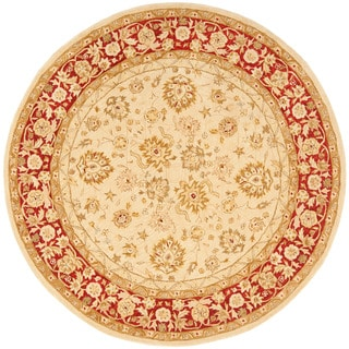 Safavieh Anatolia Handmade Ivory / Red Wool Rug (8' Round)