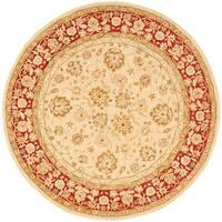 Safavieh Handmade Anatolia Oriental Ivory/ Red Hand-spun Wool Rug - 8' x 8' Round