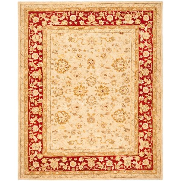 Safavieh Handmade Anatolia Oriental Ivory/ Red Hand-spun Wool Rug (9' x 12')