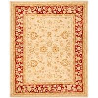 Safavieh Handmade Anatolia Oriental Ivory/ Red Hand-spun Wool Rug - 9'6 x 13'6