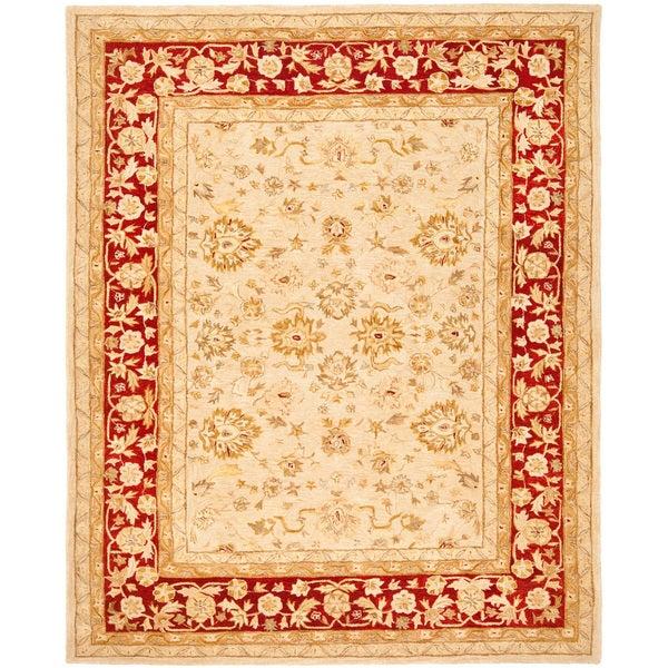 Safavieh Anatolia Handmade Ivory / Red Wool Rug (9'6 x 13'6)