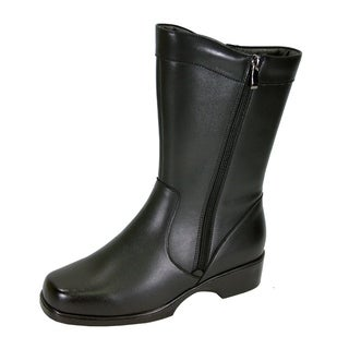 PEERAGE Athena Women Wide Width Casual Leather Insulated Dress Boot