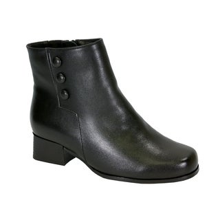 PEERAGE Page Women Wide Width Insulated Comfort Leather Dress Bootie