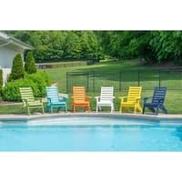 Folding Adirondack Chair - Plantation Ladderback Style w/ Cup Holder