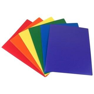 Evelots Heavy Duty Plastic Folders