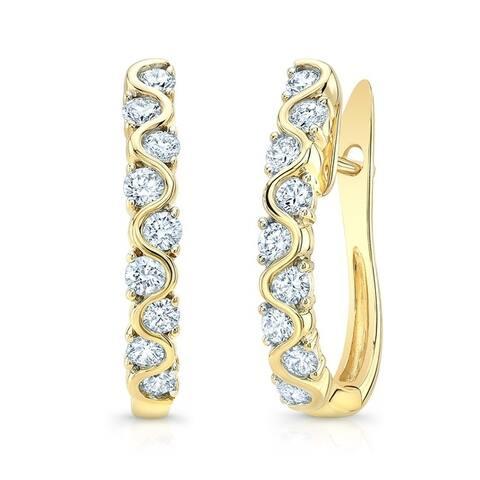 Diamond Hoop Earrings in 14k Yellow Gold, 0.72 ct. t.w.