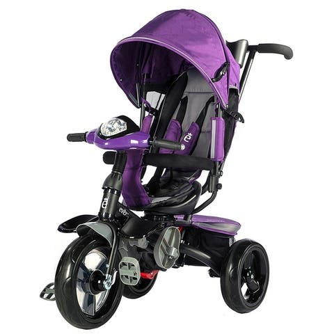 Evezo Maks 4-in-1 Stroller Trike with full canopy