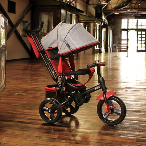 Evezo Kailin 4-in-1 Stroller Trike with Full Canopy