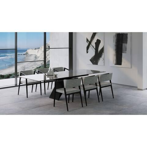 "B-Modern Maestro Extension Dining Table - Grey - 79""/98.75""w x 41.75""d x30.25""h"
