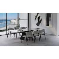 "B-Modern Maestro Extension Dining Table - Black/Grey - 79""/98.75""w x 41.75""d x30.25""h"