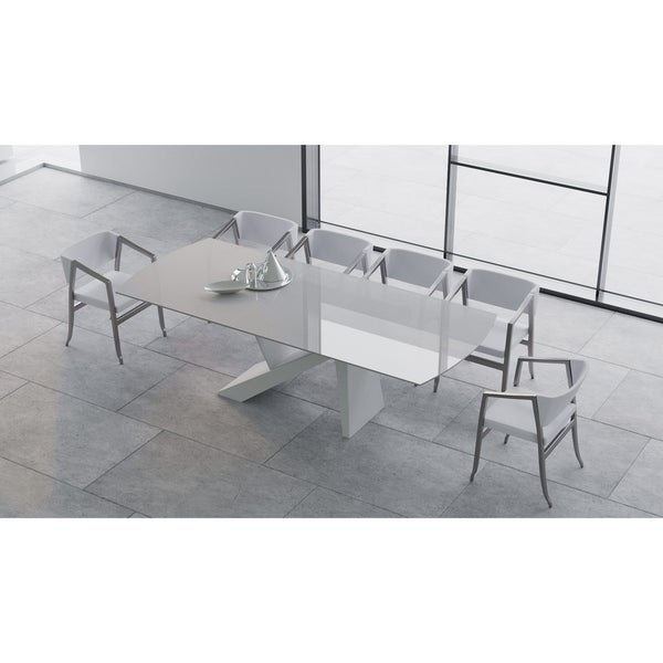 "B-Modern Virtuoso Extension Dining Table - White - 79""/98.75""w x 41.75""d x30.25""h"