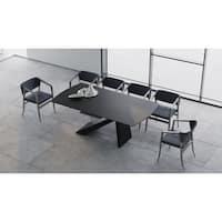 "B-Modern Virtuoso Extension Dining Table - Black/White - 79""/98.75""w x 41.75""d x30.25""h"