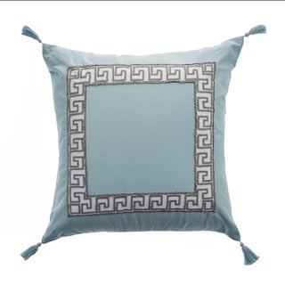 "Libby Langdon Sea Greek Key 20"" x 20"" Pillow"