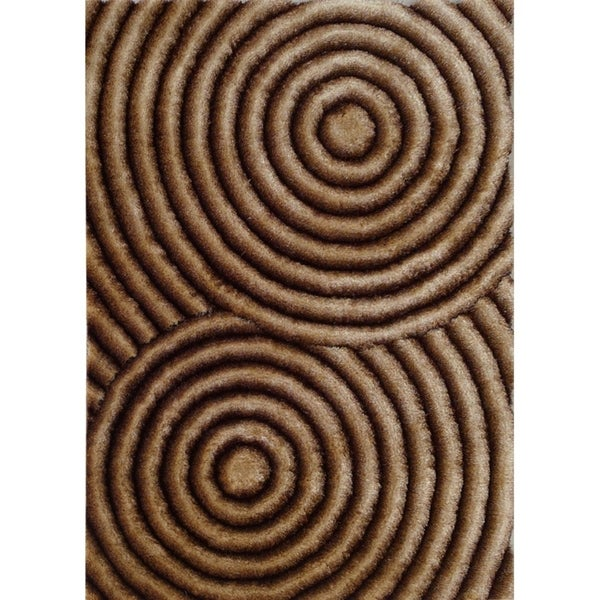 Shop Golden Brown Abstract 8x11 Area Rug 7 6 Quot X 10 3