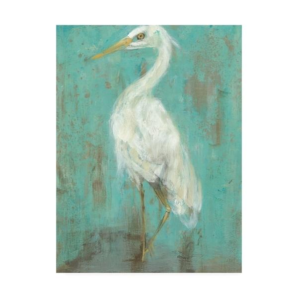 Jennifer Goldberger 'Sea Spray Heron Ii' Canvas Art