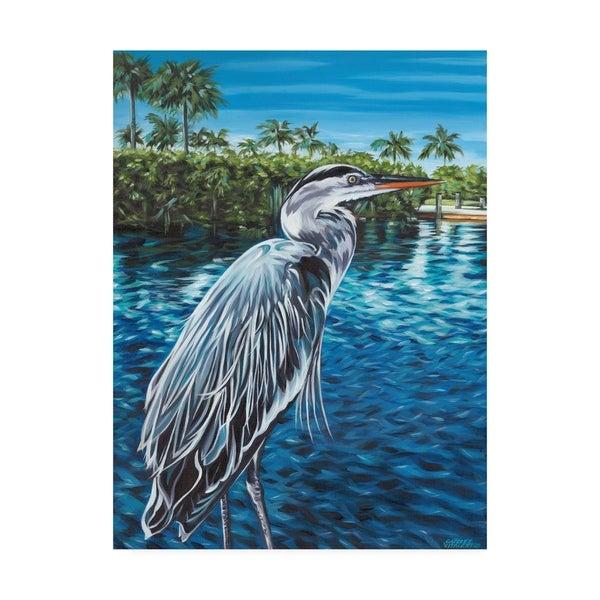 Carolee Vitaletti 'Peaceful Heron I' Canvas Art