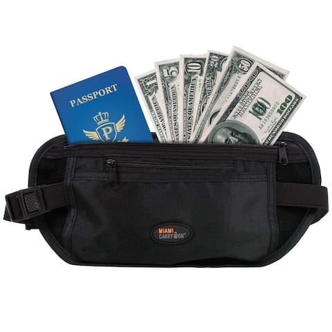 Miami CarryOn Money Belt - Travel Security Waist Money, Passport Belt