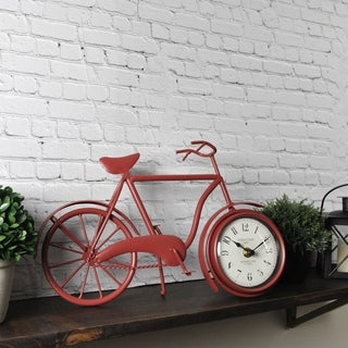 FirsTime & Co.® Red Bicycle Tabletop Clock
