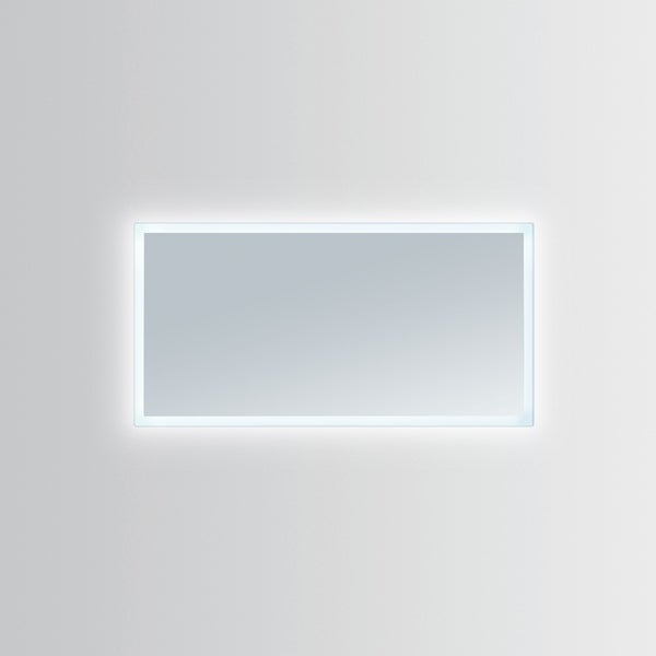 Innoci-USA Hera Rectangle LED Wall Mount Lighted Vanity Mirror With Durable Aluminum Frame