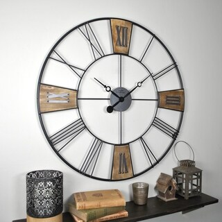 """FirsTime & Co.® Reclaimed Plaques Wall Clock - 29"""""""