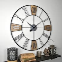 FirsTime & Co.® Reclaimed Plaques Wall Clock - 29""