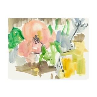 Jennifer Goldberger 'Whimsy In The Garden Ii' Canvas Art