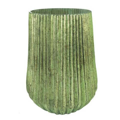 A&B Home 12-inch Papaya Green Wide Vase