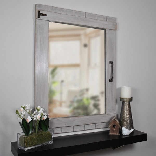 "FirsTime & Co.® Weathered Barn Mirror - 32""H x 24""W"