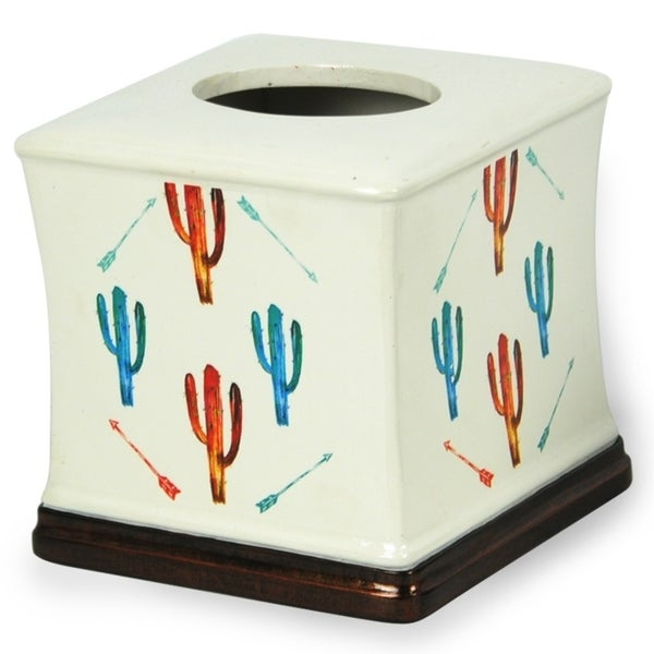 HiEnd Accents Bright Cactus Tissue Box