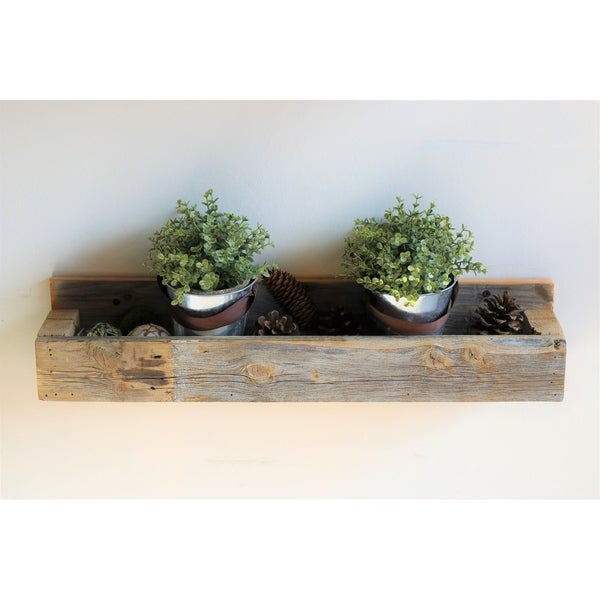 Natural Planter Shelf - N/A