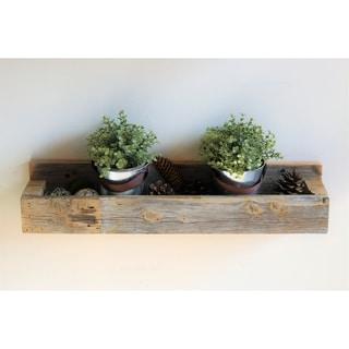 Natural Planter Shelf - N/A