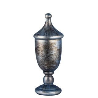 Lidded Trophy With Shiny Metalic Cloud Finish, 6x15 inches