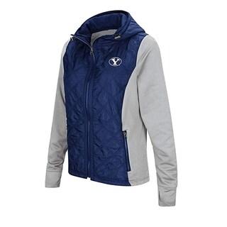 Colosseum NCAA BYU Women's Six Fingers Full Zip Jacket, Size XL - Blue