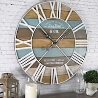 FirsTime & Co.® Maritime Planks Wall Clock