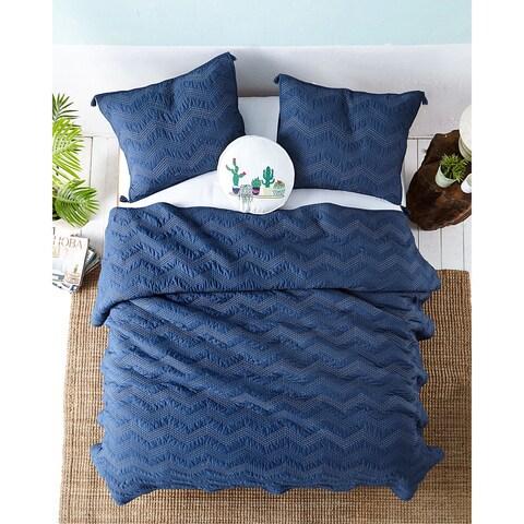 Wanderlust Cotton Quilt Set in Blue