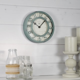FirsTime & Co.® Sage Raised Wall Clock - 8""