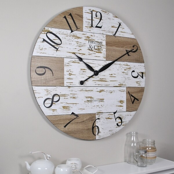 Shop Firstime Amp Co 174 Harper Pallets Wall Clock Free