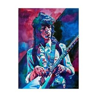 David Lloyd Glover 'Keith Richards A Rolling Stone' Canvas Art