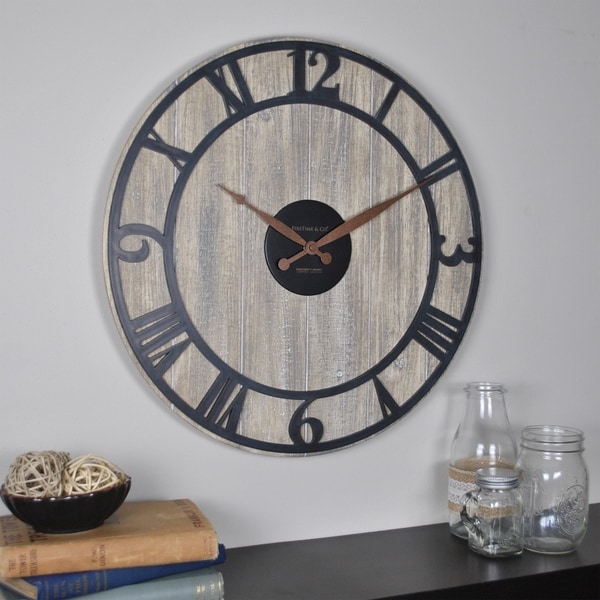 FirsTime & Co.® Finley Planks Wall Clock