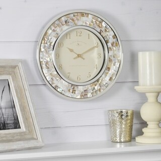 FirsTime & Co.® Pearl Mosaic Wall Clock