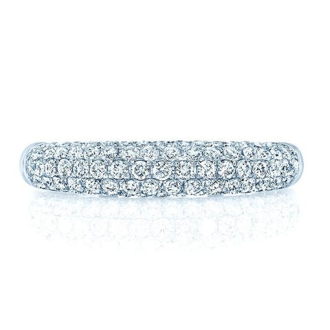 Multi Row Pave Diamond Band In 14k Gold (3/4 ct. t.w.), Size 7